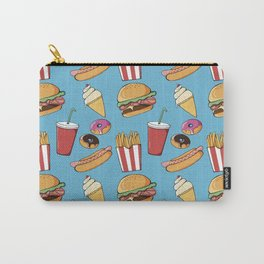 Fast-food (blue) Carry-All Pouch