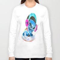 dj Long Sleeve T-shirts featuring dj by Fernando Gallegos
