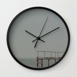 Fishing Pier, B Wall Clock