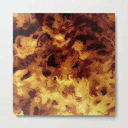 Hell Fires Burning Metal Print