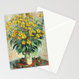 Jerusalem Artichoke Flowers (1880) by Claude Monet Stationery Cards