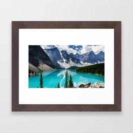 Lake Moraine Banff Framed Art Print