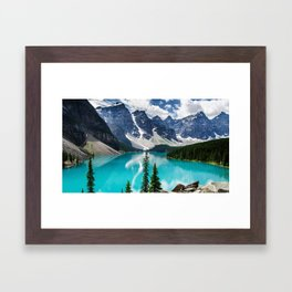 Lake Moraine Banff Framed Art Print