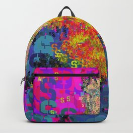 Super Type Man - Abstract Pop Art Comic Backpack