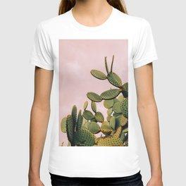 Cactus on Pink Sky T-shirt