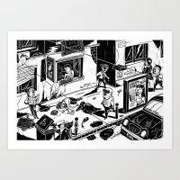 Pipien Molestus in the city Art Print