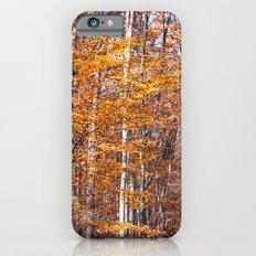 Golden brown leaves Slim Case iPhone 6s