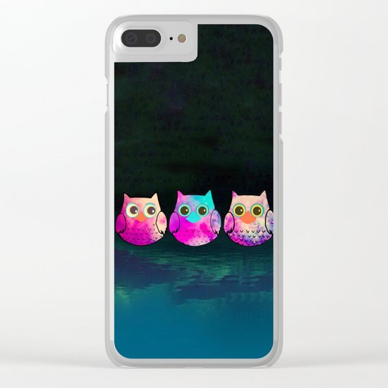 owl-29 Clear iPhone Case