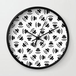 Music On (black on white version) Wall Clock