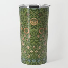 Violet and Columbine by William Morris 1883 Antique Vintage Pattern CC0 Spring Summer Travel Mug