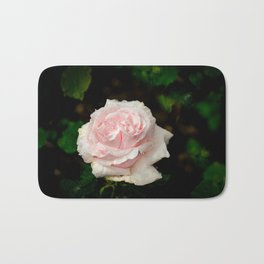 Rose twins with droplets Bath Mat