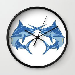 Sailfish is one of the most hardest fishes to catch Wall Clock