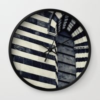 striped Wall Clocks featuring Striped by farsidian