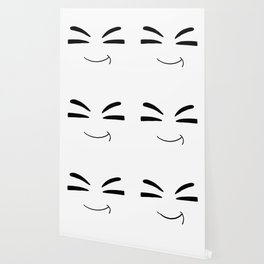 Drawn by hand a happy smile for children and adults Wallpaper