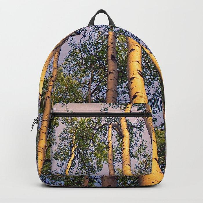 Aspen Trees Against Sky Backpack
