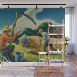 Classical Masterpiece 'Island Hay' by Thomas Hart Benton Wall Mural