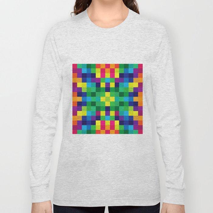 Colorful Geometric Background II Long Sleeve T-shirt