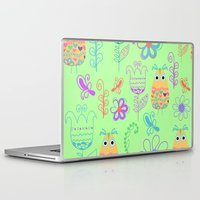 owls Laptop & iPad Skins featuring Owls by luizavictoryaPatterns