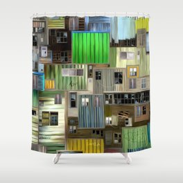 Sound of the favelas Shower Curtain