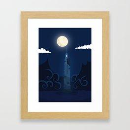 Moonlight Tower Framed Art Print