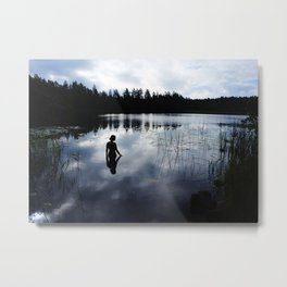 Reflecting Beauty Metal Print
