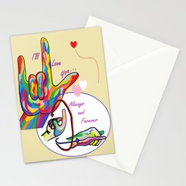 ASL I'll Love You Always and Forever Stationery Cards