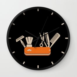 Wet Shaving First Aid Kit Wall Clock