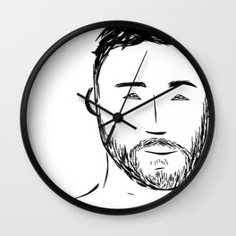 Beard Boy: Andres Wall Clock