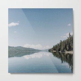 Fox Lake Reflection Metal Print