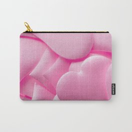 Pink hearts background Carry-All Pouch