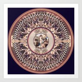 Mandala: Bouguereau (Purple) Art Print