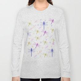 Dragonfly Pattern Long Sleeve T-shirt
