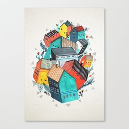Tumble Town  Canvas Print