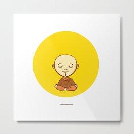 Cute cartoon buddhist monk Metal Print