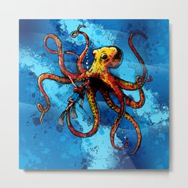 Octopus from the Deep Metal Print
