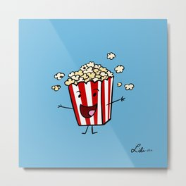 Buttered Popcorn Metal Print