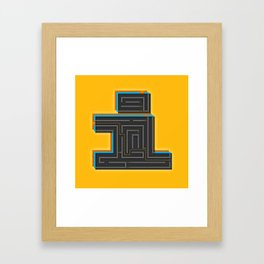 I for Itinerary Framed Art Print