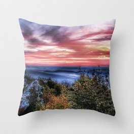 Stained Sunrise Throw Pillow