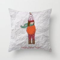 New Year Girl!  Throw Pillow
