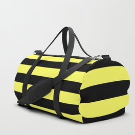 Stripes (Black & Yellow Pattern) Duffle Bag