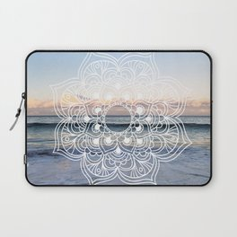 Flower shell mandala - shoreline Laptop Sleeve