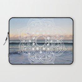 Flower shell mandala - shoreline Laptop Sleeve