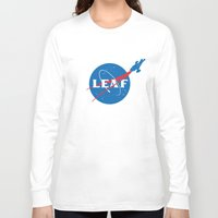 leaf Long Sleeve T-shirts featuring LEAF by geekchic
