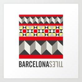 Barcelona Tiles #4 Art Print