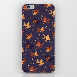 Purple Goldfish Pattern iPhone Skin