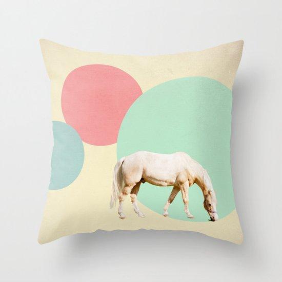 Mr. Horse Throw Pillow