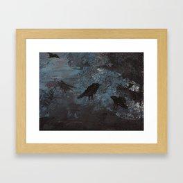 Distorted Caw Framed Art Print