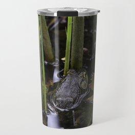 Pond frog Travel Mug