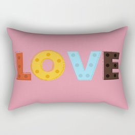 happy LOVE - typography Rectangular Pillow