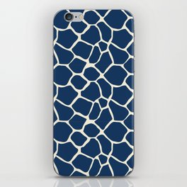 Giraffe Pattern Animal Print (navy) iPhone Skin